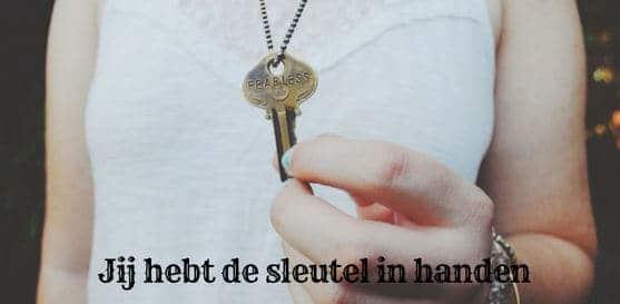 Jij hebt de sleutel in handen dame