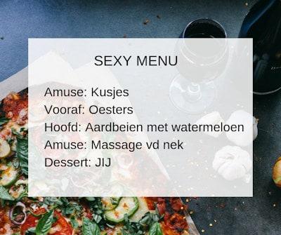 sexy menu