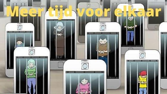 meer tijd voor elkaar, minder mobiele telefoon