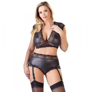Sexy 2-Delige Wetlook BH Set - Curvy